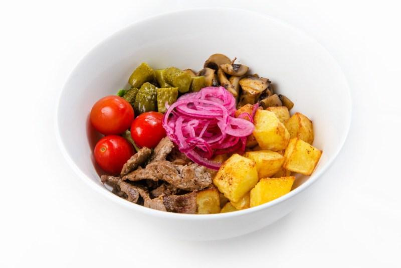 Салат Телятина с картофелем