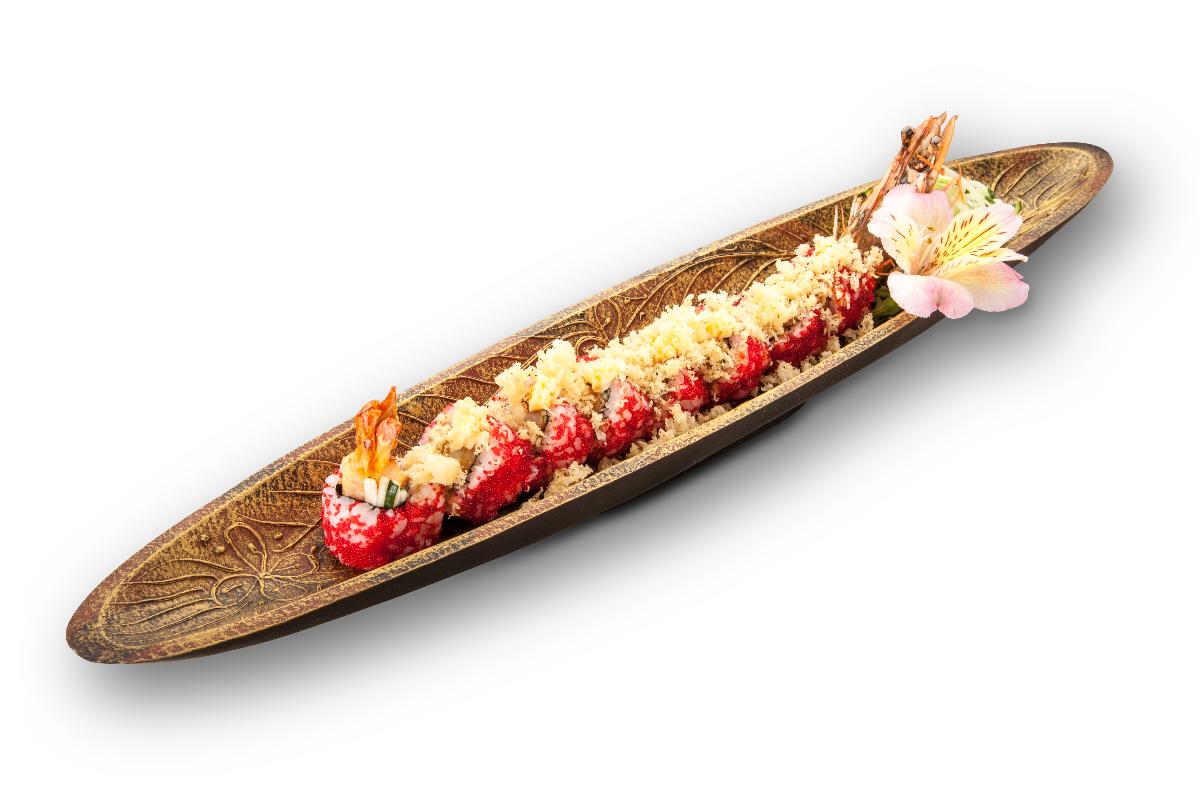 Ролл с королевской креветкой Royal shrimps roll