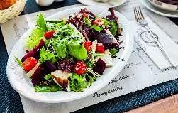 Салат из свеклы с сыром брынза