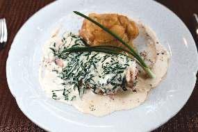 Куриная грудка в сливочном соусе с картофелем ро-домашнему