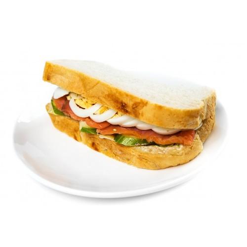 Лосось сэндвич с огурцом