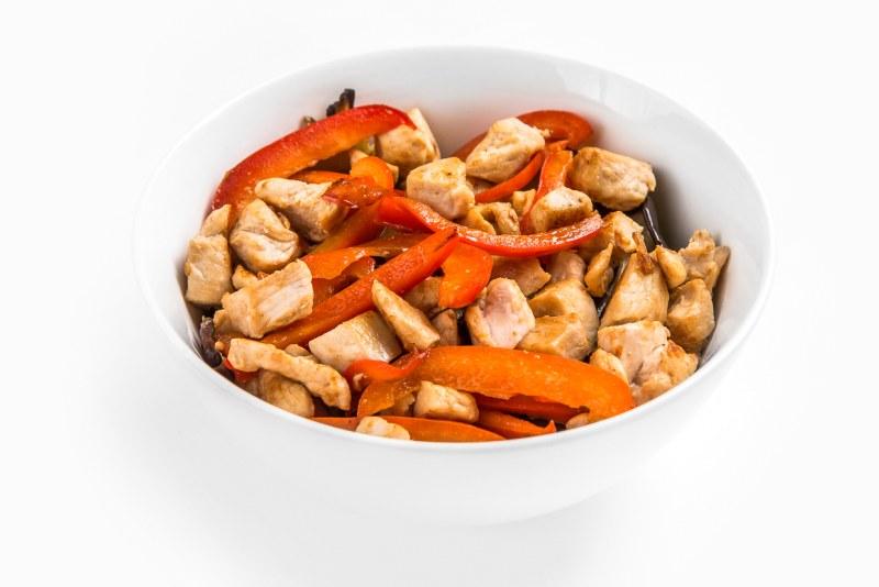 Салат Теплый салат с курицей